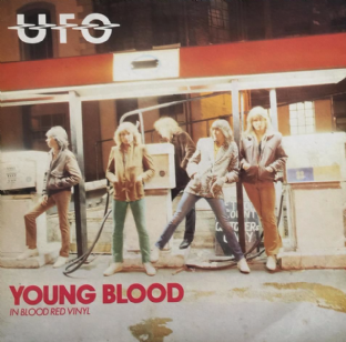"UFO ‎- Young Blood (7"") (Red Vinyl) (EX/VG-)"